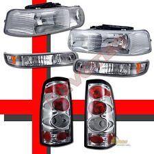 99-02 Chevy Silverado 1500 2500 Headlights Bumper Signal & Tail Lights Chrome