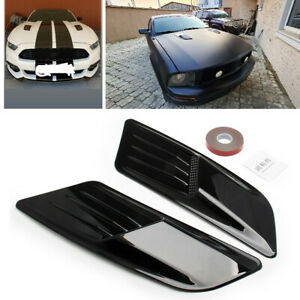 2PCS Universal Car Decoration Air Flow Intake Scoop Bonnet Side Fender Vent Hood