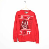 Vintage STAR WARS Big Logo Sweatshirt Jumper Red | Medium M