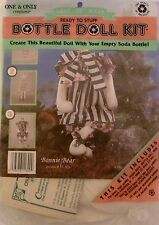 """One&Only Creations """"Bonnie Bear"""" Ready To Stuff Bottle Doll Kit #11-300 Nip 1992"""