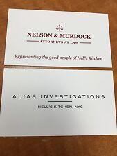 2-Daredevil Nelson & Murdock Attorneys At Law Business Card & Jessica Jones Rare