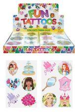 72 Childrens Temporary Tattoos Princess Kids Loot Party Bag Fillers Pinata