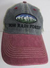 HOH Rain Forest Hat Cap Trucker Snapback Washington USA Embroidery Faded New