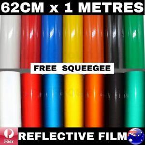 62CM X 1M REFLECTIVE VINYL FILM STICKER DECAL CAR WALL SIGN CALENDAR SAFETY WARN