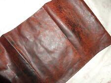 "Croscill Plateau Santa Fe Faux Leather Southwestern Rust Brown King Bedskirt 15"""
