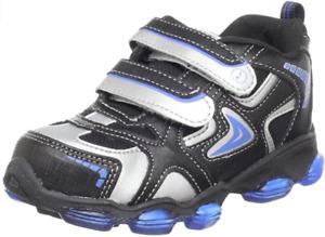Stride Rite Boys Comet Light-up Sneakers Black/ Royal US Toddler Sizes 7 M, 8 M