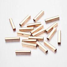 20pcs Golden Brass Cuboid Tube Beads  20x4x4mm Jewelry Findings & Making