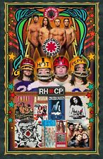 """Red Hot Chili Peppers-11x17"""" poster -signed by artist-vivid-colors very detailed"""