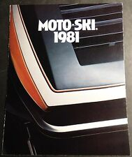 1981 MOTO-SKI SUPER SONIC & MORE SNOWMOBILE SALES BROCHURE 6 PAGES (524)