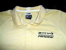 NASCAR Sprint Fanview Yellow adidas XL Climalite Polo Shirt Racing Electronic RE