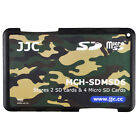 JJC Slim Memory Card Case Holder Hard Protector for 2 SD Cards 4 Micro SD Cards