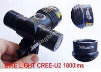 Ultra Bright CREE XML U2 LED Bicycle Bike Light 1800 Lumen T6 Upgrade Box 18650