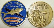USS Sarda SS 488 Submarine Coin From the Depths