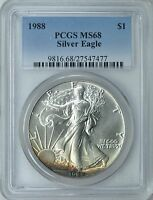 1988 $1 American Silver Eagle PCGS MS-68  (Nicely Toned) ASE