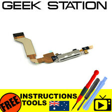 usb charge dock port for iphone 4 a1332 connector microphone flex cable white