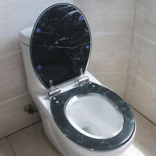 Black Marble Style Bathroom Safety Resin Toilet Cover Seat Nice Decoration