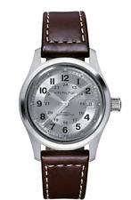 New Hamilton Khaki Field Auto Silver Dial Leather Band Men's Watch H70455553