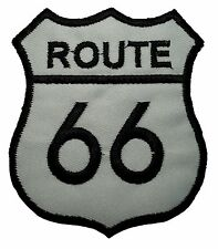 Vintage Route 66 - Embroidered Motorcycle/Biker Patch