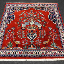 Oriental Carpet China 75 x 73 Cm Hand Knotted Natural motifs Red Red Carpet Alfombra