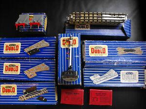 BOXED hornby DUBLO Gauge 00 Railtrack 2 x Switches 1 Double arm signal