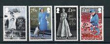 Falkland Islands 2016 MNH Queen Elizabeth II 90th Birthday Style 4v Set Stamps