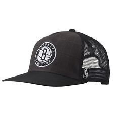 b5ddbab34850e ADIDAS NBA BROOKLYN NETS HAT TRUCKER CAP ONE SIZE FITS MOST ORIGINALS GREY  MEN S