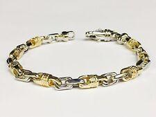 """14k Solid Gold Handmade Link Men's chain/Bracelet 7.5"""" 24 grams 6 MM"""