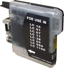 10 Druckerpatronen ersetzt Brother LC980 LC1100 SCHWARZ DCP525CN DCP145C 195C