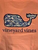 Vineyard Vines Men's Floral Camo Whale S/S Pocket T-Shirt Peach Sz 2XL- NEW TAGS