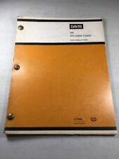 Davis W4 Articulated Loader Parts Catalog