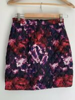 SHAKUHACHI beautiful Multi Coloured Quilted Mini Skirt Size S 6