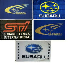 Subaru_Flag Banner 3x5 ft Japanese Rally Cars WRT Impreza Wall Garage Blue New