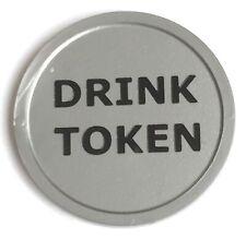 More details for plastic drink tokens foil printed - bag of 100 - wedding, party, event, bar