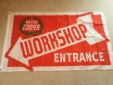 Mini Cooper BMC John Cooper works S workshop entrance flag banner
