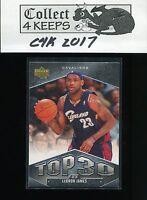 2007-08 Upper Deck Top 30 #UT-19 LeBron James (Cleveland Cavaliers)