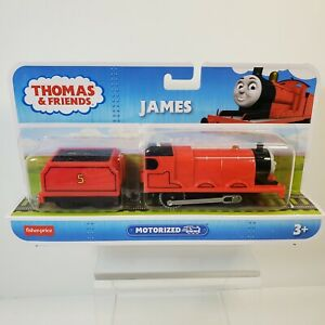 Thomas & Friends Motorized JAMES Engine BML08 Trackmaster Fisher-Price Coal Car