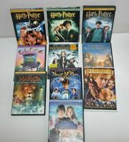 Lot of 10 DVD's Harry Potter Narnia Charlie and the Chocolate Family Movies