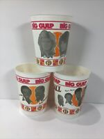 1981 Cannonball Run 7-11 Big Gulp Collector Cup Lot of 3 Burt Reynolds Moore