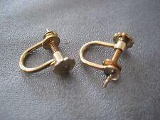 14K Gold Filled Screw Back Earring Findings 1 Pair