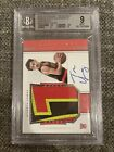 2018-19 NATIONAL TREASURES ROOKIE PATCH AUTO HORIZONTAL TRAE YOUNG RC /49 BGS 9