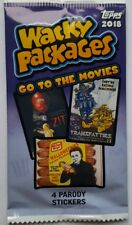 2018 Topps Wacky Packages Go to the Movies Sticker Trading Card Pack +Bonus