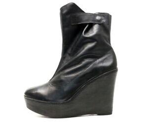 Kooba Cindy black leather wedge boots sz. 10 M NEW! $365