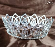 Vintage Wedding Crown Clear Austrian Rhinestone Bridal Tiaras Pageant Prom Party