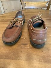 Mens New Rockport Boat Shoes in Tan Size 12 W