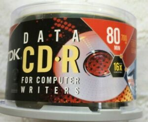 TDK CD-R For Computer Burning 50 Pack 80 min 700 MB Blank CDs NEW SEALED