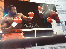 Buster Douglas auto Stinson COA autographed signed historic 42-1 Tyson knockout