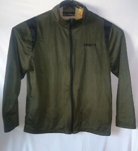 And1 Mens XLarge Track Jacket Sweat Suit Olive Green Zip Closure Long Sleeve
