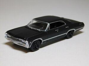 Greenlight 1967 Chevrolet Impala Black Bandit 1/64 Scale Mint Loose Matte Black