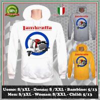 FELPA LAMBRETTA VINTAGE VESPA NO HAPPINESS TOUR CLUB UOMO DONNA BAMBINO HOODIE