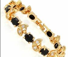 Tennis Sapphire Yellow Gold Fine Bracelets